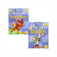 2 Disney Learning Workbooks Grade 1 -Phonics and Reading / Addition and Subtract