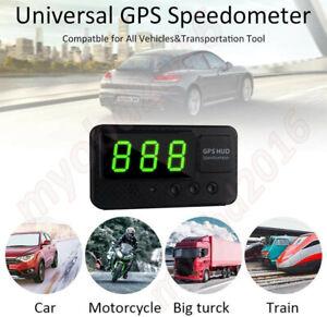 Car Digital GPS Speedometer Odometer HUD Head-up Display Overspeed Warning Alarm