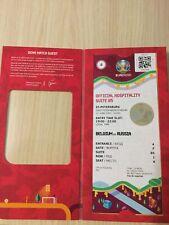 EURO 2020. VIP Билет Бельгия- Россия. Матч №4. в чехле .Санкт- Петербург.Новый.