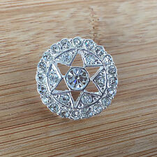 Diamante Star button Gold or silver size 44 (28mm) sold per button