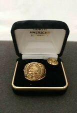North American Hunting Club - Official Member Ring Size 12 & Pin - Gold Plated