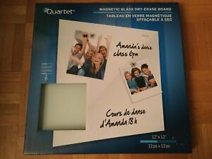 Quartet Magnetic Glass Dry-Erase Board  12'' x 12'' ( White )