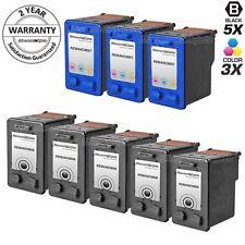 8 Reman Cartridge Set For HP 56 57 C6656AN C6657AN Ink OfficeJet 4110 4215 5508