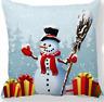 Weihnachten Geschenk Sofa Kissen  * Schneemann * Kissenbezug  44 cm x 44 cm