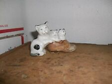 Vintage or antique Mother Cat with kittens in a shoe figurine Made in Japan mini