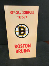 BOSTON BRUINS 1976-1977 OFFICIAL HOME AND AWAY SCHEDULE BY STATE ST.