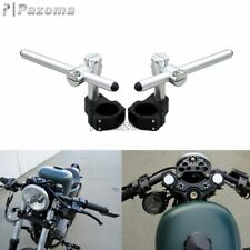 "7/8"" 22mm Adjustable Clip On Ons Handlebar Universal For 50mm Fork Motocycle Hot"