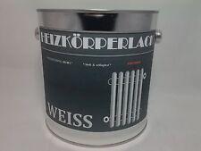 (7,99€/L.) Heizkörperlack Weiß Weiss Weisslack Matt  Lack 2,5 Liter