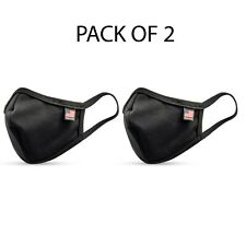 Made in USA cotton mask Pack of 2 (Black)