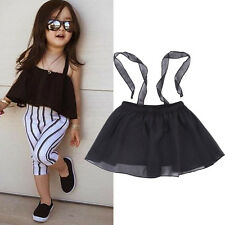 Niños Bebé Negro Tutú Vestido De Verano Tutu Dress Fiesta Falda Boda