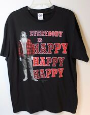 """Duck Dynasty Black Graphic """"Everybody Is Happy Happy Happy"""" T-Shirt, Size L"""