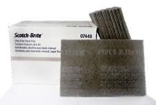 3M 07448 Scotch Brite Ultra Fine Hand Scuff Pads, Gray, 10 Pads (1/2 Box)
