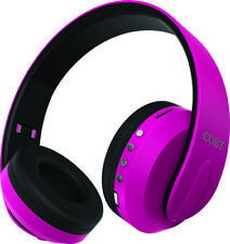 COBY CHBT-708-PK Pink Session Bluetooth Stereo Headphones