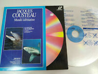 Jacques Cousteau El lenguaje Delfines Tiburones MUNDO SUBMARINO - LASERDISC LD