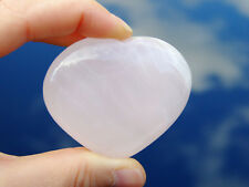 Pink Mangano Calcite Carved Heart Natural Gemstone Crystal Reiki Chakra Healing