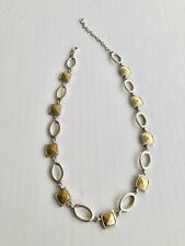 Premier Designs Satin Silver And Gold Tone Necklace