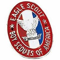 BOY SCOUTS OF AMERICA EAGLE SCOUT RED WHITE BLUE HIKING STAFF STICK MEDALLION