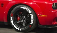 """Tire Lettering DODGE AMERICAN MUSCLE PERMANENT Stickers 16""""-24"""" Decal 1.25""""SET"""