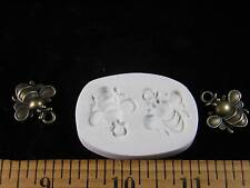 Honey Bees Polymer Clay Mold - 2 in 1 Mold (#MD1229)