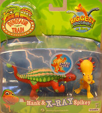DINOSAUR TRAIN ITEM - HANK & X-RAY SPIKEY - HARD RUBBER DINOSAUR TWO FIGURE SET