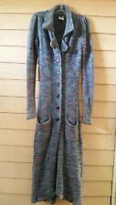 BETSEY JOHNSON PUNK LABEL REVIVAL MAXI  DUSTER SWEATER COAT S