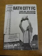 01/10/1985 Bath City v Stafford Rangers  . If this item has any faults they shou