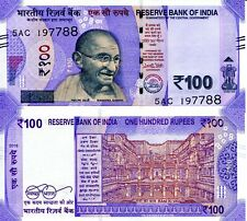 India 100 Rupees Banknote World Paper Money Unc Currency Pick pNew 2018 Gandhi
