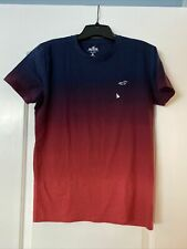 Hollister Men's Blue & Red Ombre T-shirt, Size S, NWT