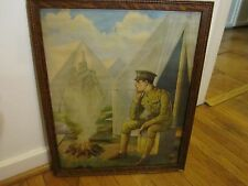 "ANTIQUE WORLD WAR ONE (WWI) LITHOGRAPH - ""MEMORIES"" - W/ ORIG FRAME - GOOD COND"