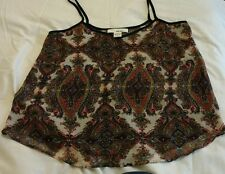 paisley sans souci lined vest size large lined summer holiday