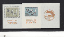 PARAGUAY CHILE SOCCER WORLD CUP 1962 PERF& IMPERF SOUVENIR SHEETS