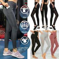 Women Sport Yoga Leggings with Pocket Workout Gym Fitness Athletic Stretch Pants