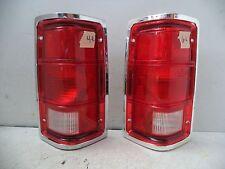 SET 81-93 DODGE PICKUP TAIL LAMP CHROME HOUSING/TRIM ASSEMBLY GLO-BRITE GB4R6L