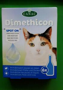 6 x Flohmittel für Katzen Katze gegen Zecken Flöhe Spot On Ohne Insektizide