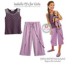 American Girl CL LE ISABELLE PAJAMAS SIZE XS(6) for Girls Purple Tank Top NEW