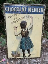 Ancienne Tole Publicitaire Chocolat Menier