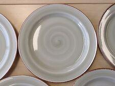 Set 6 x Steelite Craft Plates Green Swirl + Rustic Rim 26.5 cm 10.4 inch