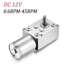 Dc 12v Gear Reduction Motor Worm Torque Turbo Geared Motor 0645rpm Diy Parts