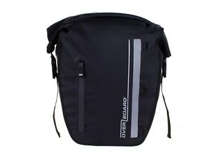 Bicycle Pannier Bag 17 Litre Single Overboard 100% Waterproof Black Yellow Bike