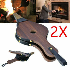 2pcs Vintage Bellows Fireplace Blower Traditional Stove Fire Lighter Fan Wood