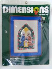 Dimensions Nativity Window Net Darning Lace Kit 8613 Vintage 1984 Christmas