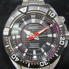 SEIKO SPORTURA MEN'S WATCH KINETIC ALL STAINLESS S ORIGINAL JAPAN SKA511 NEW