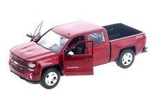 2017 Chevy Silverado 1500 LT Z71 Pickup Diecast Truck 1:27 Motormax 8 inch RED