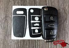 GRIS OSCURO Llave Envolvente Carcasa Fina Audi Mando RS A1 A3 A4 A5 A6 A8 TT Q3