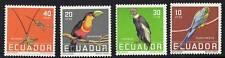 ECUADOR 1958  BIRDS SC.#634-37 MNH  PARROTS, HUMMINGBIRDS @SCARCE@ (D01)