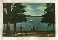 New Curt Teich Postcard Nature's Bathtub In Minnesota Lake Scene Curteich