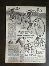 Vintage 1966 Montgomery Wards Bicycles 2 Page Original Ad