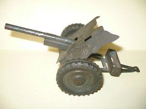 1 VINTAGE ELASTOLIN FIELD GUN ARTILLERY / 7 inches long - for 7.5cm