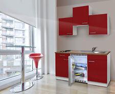 Cucina Mini Singola Cucinino Blocco 150 CM Bianco Rosso respekta