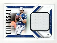 ANDREW LUCK NFL 2018 NATIONAL TREASURES COLOSSAL MATERIALS #/49 (COLTS)